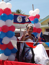 GtB Beauty Queen at the September Celebrations in Belize