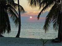 GtB Gallery November 09 Sunset at Northern Caye by Chuck Freeman