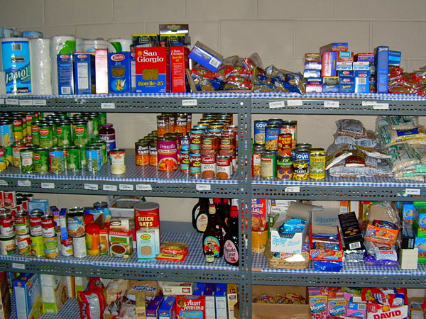GtB Hurricane ready pantry with food and water Supplies