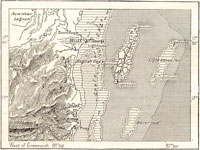 GtB Holzstich einer British Honduras Belize Karte von 1890