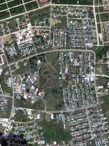 GtB Die Hauptstadt Belmopan aus dem Luftraum über Belize