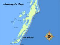 GtB Karte von Ambergris Caye in Belize