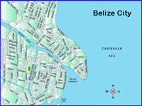 GtB Karte von Belize City