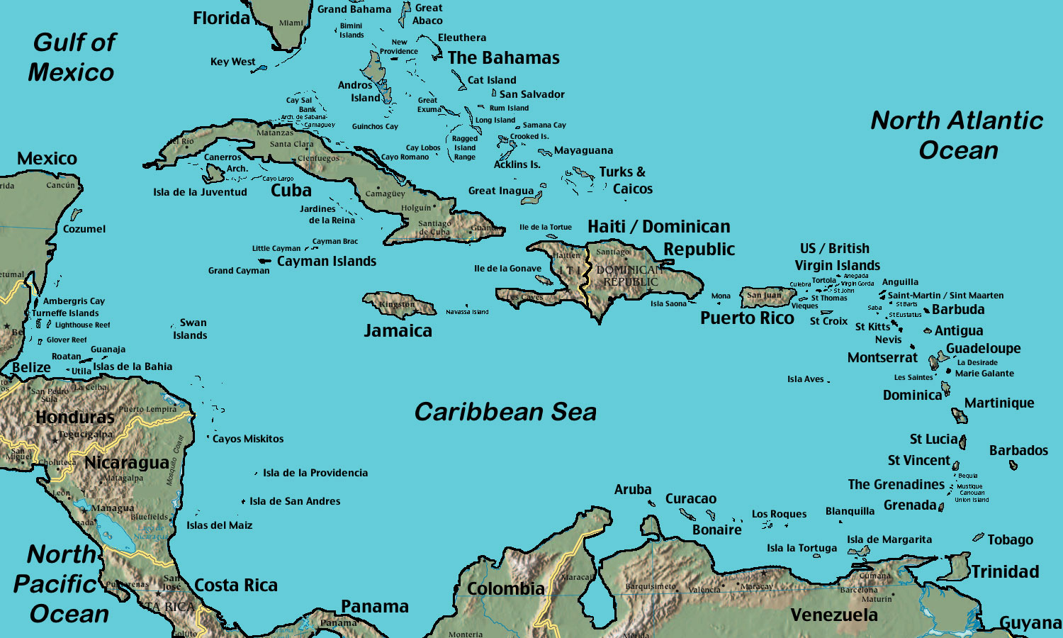The Great Collection of Belize Maps