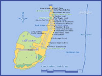 GtB Map of Caye Caulker Belize