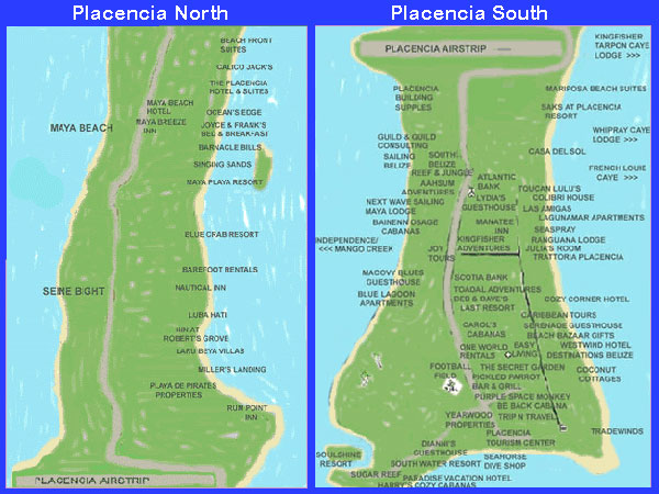 Guide and Map of Placencia in the South of Belize