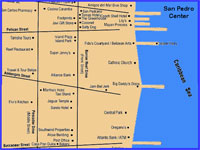 GtB Map from the center of San Pedro in Belize