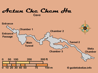 GtB Map of the Belize Cave Actun                                 Che Chem, also called Poisonwood Water                                 Cave