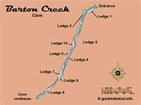 GtB Map of the Belize                                 Mayan Cave Barton Creek
