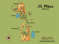 GtB                                 Map of Belize Maya Site El Pilar, also                                 called Watering Basin