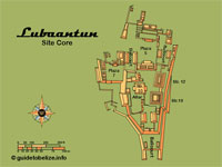 GtB Map of Belize Maya Site                                 Lubaantun, also called Place of the                                 Fallen Stones