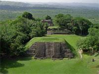 GtB Xunantunich Structure A1. View from El Castillo