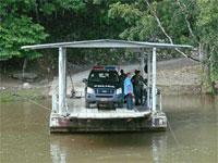GtB Die Fähre zum überqueren des Mopan Rivers nach Xunantunich