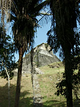 GtB View to                                 el Castillo on the Belize Maya Site                                 Xunantunich