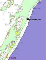 GtB Real Estate Map of Ambergris Caye with Habaneros