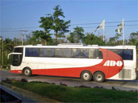GtB ADO Bus from                                                   Chetumal, close                                                   Cancun