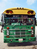 GtB BBDC Bus                                                   at the Bus Terminal in                                                   Belize