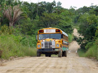 GtB Bol's                                                         Bus on the Way                                                         from Santa Cruz                                                         to Punta Gorda