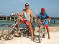 GtB With the Bike on Ambergris Caye in Belize