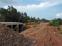GtB Road construction in Belize, between Southern Highway and Placencia