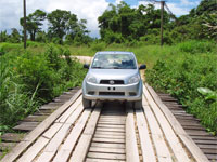 GtB Road in the Maya Mountains in Belize