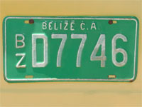 GtB Taxiplate from Dangriga in Belize City