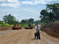 GtB Havy road work on the southern highway in Belize