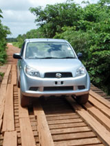 GtB Driving on the Costal Higway (Manatee Road) in Belize