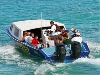 GtB Island Ferry verlässt San Pedro Richtung Norden