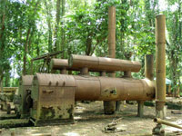 GtB Train boilers for heating the sugar, at the Serpon Sugar Mill in Belize