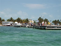 GtB Caye Caulker Main Water Taxi Dock