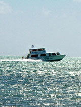 GtB Water Taxi heading for Belize City.