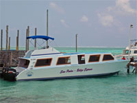 GtB San Pedro Belize Express Boat on the Tacklebox Dock.