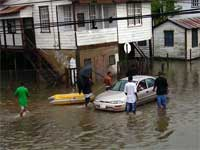 GtB Flooding in Belize City after a tropical Depression