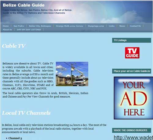 Stolen content. Belize Cable                                   Guide is a content thief