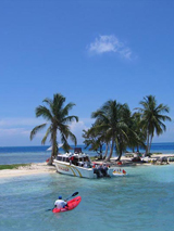 Ein Tag am Rendezvous Caye in Belize