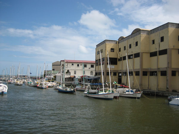 Belize City Channel clos to Swing Bridge