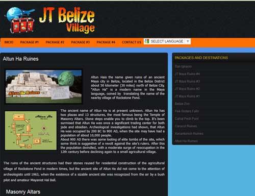 Stolen content. JT Belize Village                                   iis a content thief