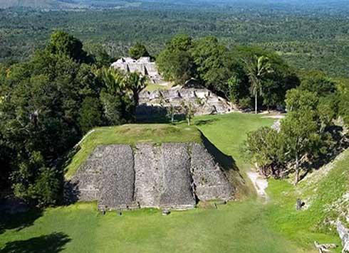 Die Lubaantun Maya Ruin in Belize